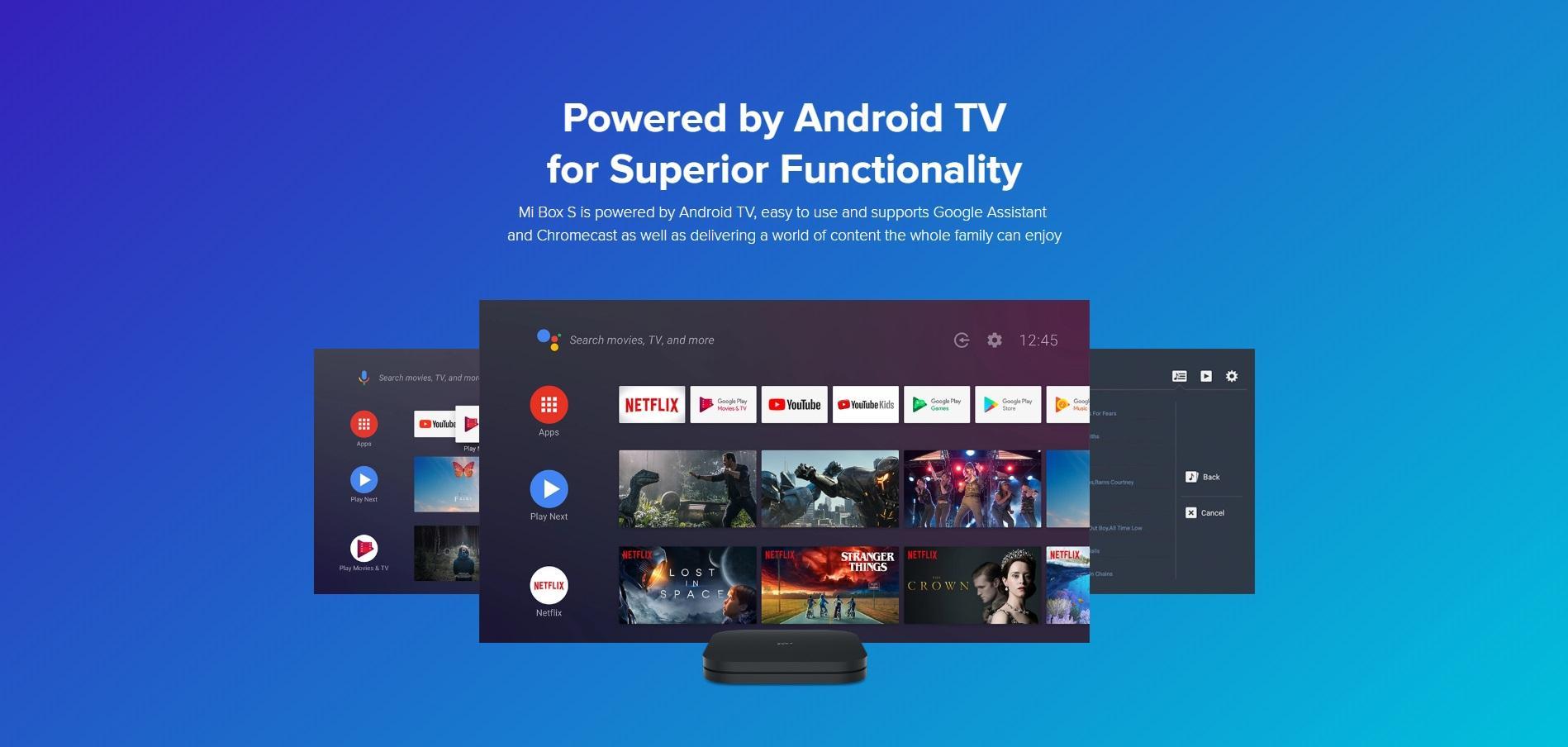 اندروید TV سیستم شیائومی Mi Box S