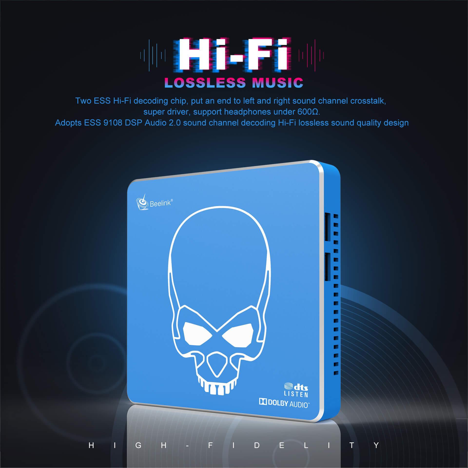 سیستم صوتی Hifi Lossless اندروید باکس Beelink GT King Pro