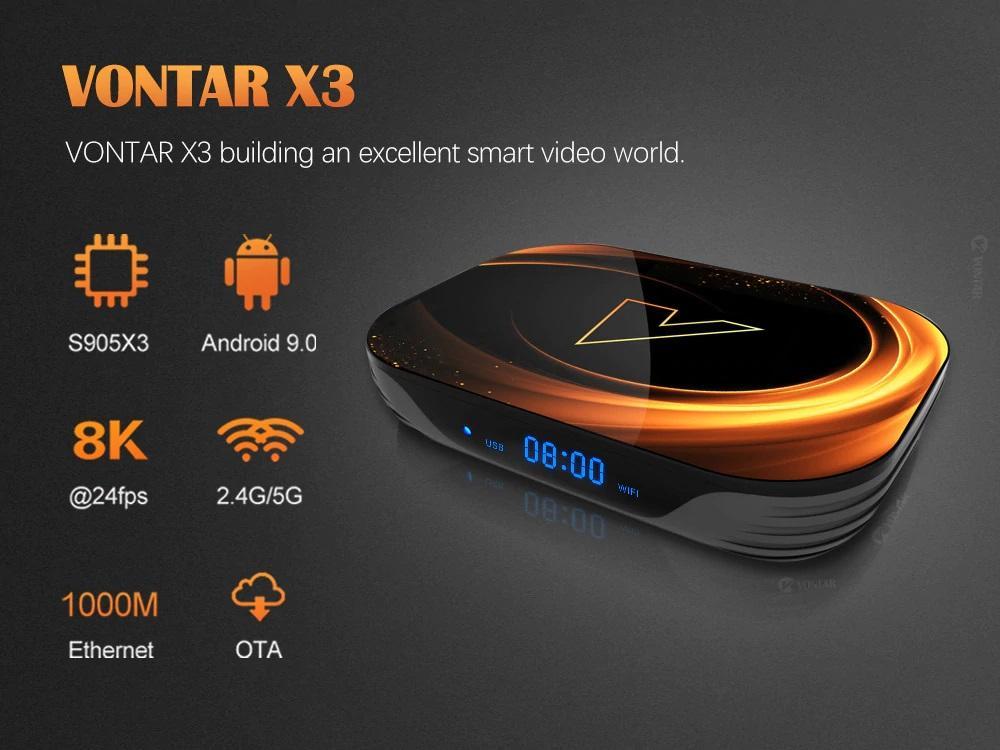 مشخصات کلی اندرویدباکس Vontar X3