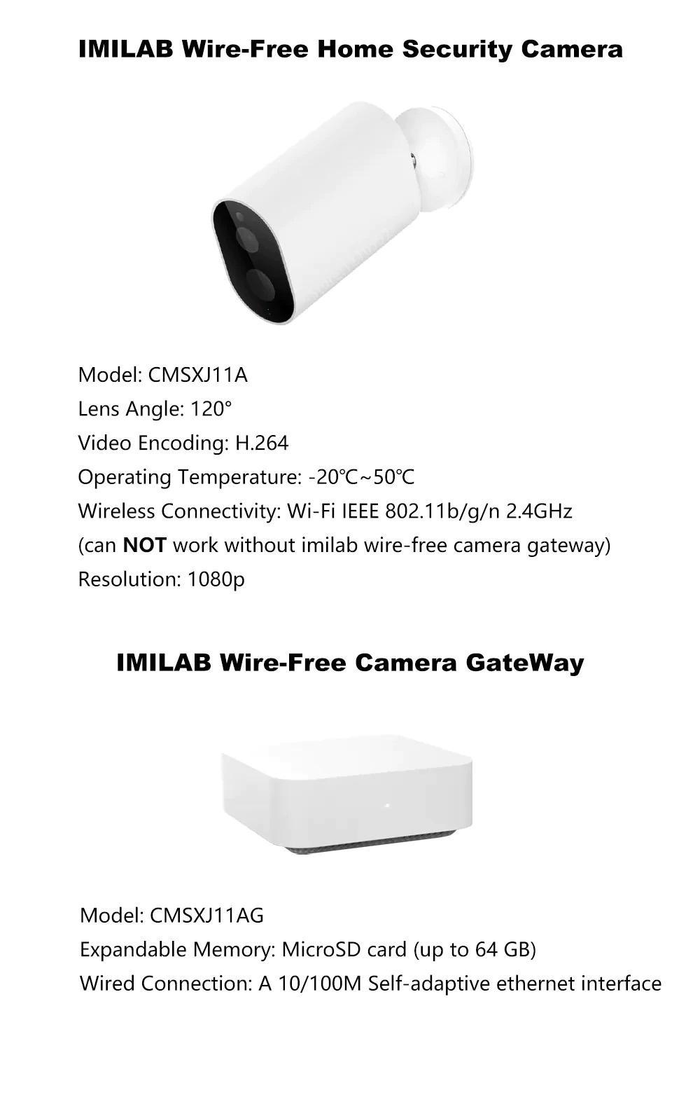 مشخصات فنی دوربین شیائومی IMILAB EC2