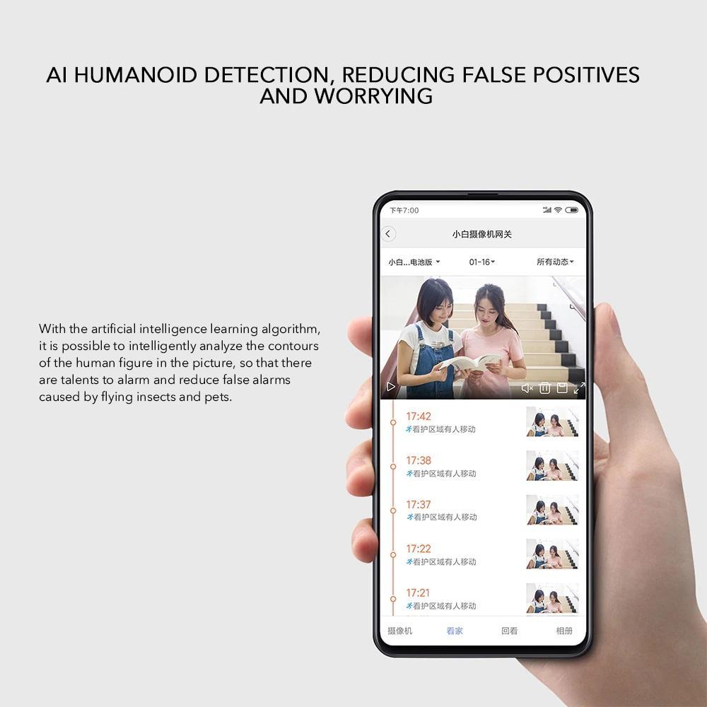 تشخیص انسان توسط دوربین شیائومی IMILAB EC2
