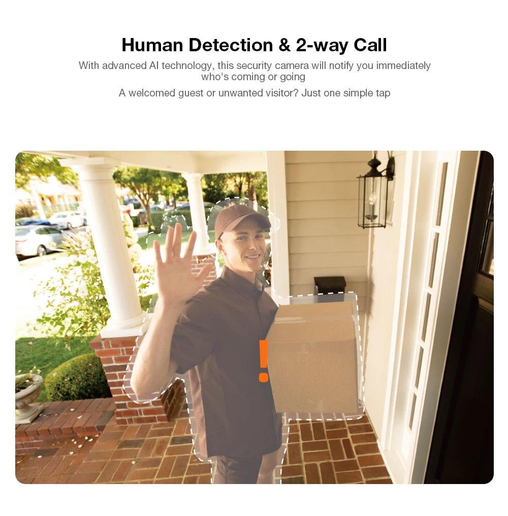 تشخیص انسان دوربین شیائومی IMILAB EC3